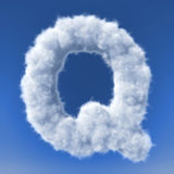 Clouds in shape of the letter Stock Photos