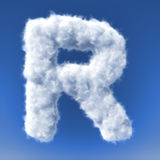 Clouds in shape of the letter Stock Images