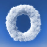 Clouds in shape of the letter Royalty Free Stock Images