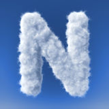 Clouds in shape of the letter Royalty Free Stock Image