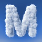 Clouds in shape of the letter Stock Photography