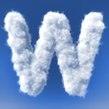 Clouds in shape of the letter Royalty Free Stock Photo