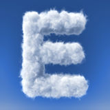 Clouds in shape of the letter Stock Photo