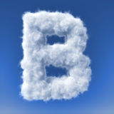 Clouds in shape of the letter royalty free illustration