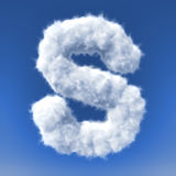 Clouds in shape of the letter Stock Image