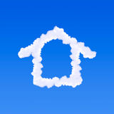 Clouds shaped house Stock Photo