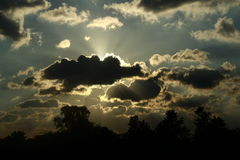Clouds shining royalty free stock image