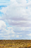 Clouds. Simple clouds on a nice deserty day royalty free stock photo