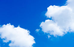 Clouds and skies. Sky with white clouds On a Clear Day Royalty Free Stock Photo