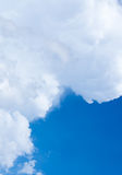 Clouds and skies. Sky with white clouds On a Clear Day Royalty Free Stock Image