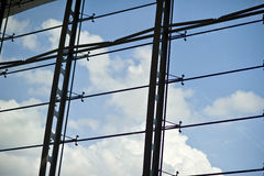 Clouds and Skies Through Window Panes Royalty Free Stock Photo