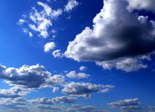 Clouds on sky. Clouds in the sky background Stock Photo
