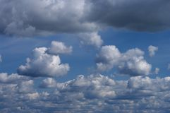 Clouds on the sky. Cloudy blue sky, summer day Stock Photography
