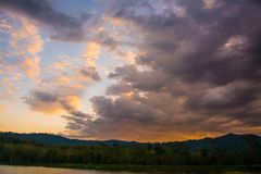 Clouds and sky.  Royalty Free Stock Photography