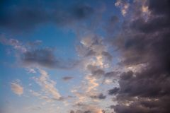 Clouds and sky.  Stock Photo