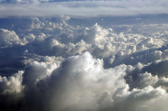Clouds in the sky. Seen from a plane Stock Photo