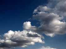 Clouds in the sky. Sunny day in Vilnius Stock Images