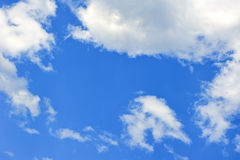 Clouds in sky. Clouds in the blue sky Royalty Free Stock Photography