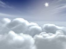 Clouds in the sky. A lot of clouds in a big sky Royalty Free Stock Photography