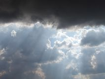 Clouds on the sky. Photo of the various clouds formations Stock Image