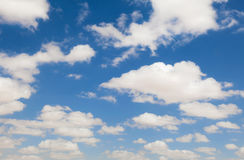 Clouds in the sky. Clouds in the blue sky Stock Photo