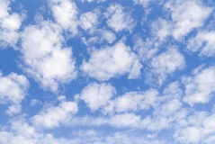 Clouds on sky. White clouds in the blue summer sky Royalty Free Stock Photography