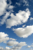 Clouds in the sky. White clouds in a blue sky royalty free stock photo