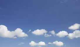 Clouds and sky. Cumulus clouds in a tropical sky stock photos