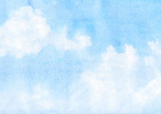 Clouds and sky. Watercolor clouds and sky background