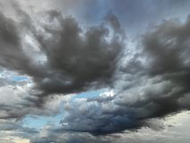 Clouds in sky. Stock Images