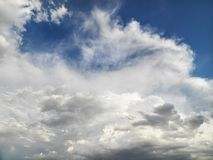 Clouds in sky. Stock Photos