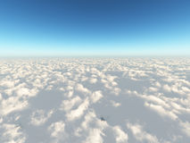 Clouds sky 3d cg Stock Images