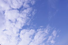 Clouds on sky. A beautiful sky, would make a great background, space for message Royalty Free Stock Photos