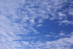 Clouds on the sky. Wispy blue sky and clouds, summer day Royalty Free Stock Photo