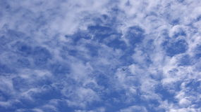 Clouds on the sky. Wispy blue sky and clouds, summer day Stock Photography