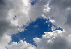 Clouds at the sky Royalty Free Stock Photography