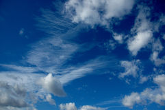 Clouds in the sky. Blue sky with clouds in france Royalty Free Stock Image