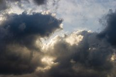 Clouds and sky. Dark clouds stock images