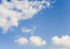 Clouds and sky. White clouds and blue sky Stock Photos