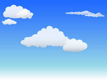 Clouds and sky. White clouds and blue sky