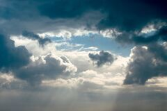 Clouds in the sky Royalty Free Stock Photo