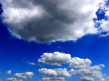 Clouds on sky. Clouds in the sky background Stock Photography