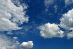 Clouds on sky. Clouds on blue sky Stock Photo