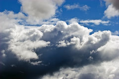 Clouds in the sky above Karelia Royalty Free Stock Images