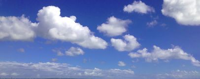 Clouds In The Sky Above Kuta Beach, Bali royalty free stock photo