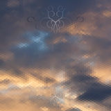 Clouds in the sky, abstract geometric background Royalty Free Stock Images