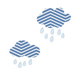 Clouds Sky Abstract Rain Nature Storm Cute Vector Stock Photo