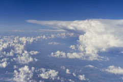Clouds in the sky, aerial view Stock Photos