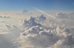 Clouds. From the sky in airplane Stock Photography