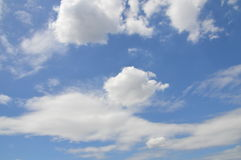 Clouds In The Sky. All blue and white. It is a beautifull sky Royalty Free Stock Images
